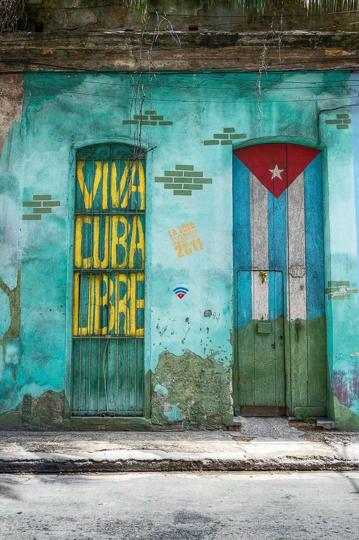 viva cuba libre graffito